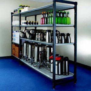 Hamag Magazijninrichting | Kunststof, RVS en aluminium stellingen